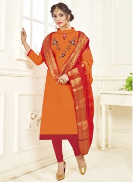 Cotton Beads Work Trendy Churidar Suit