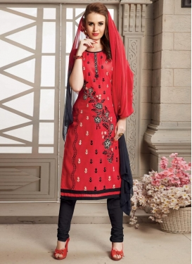 Cotton Churidar Salwar Kameez For Casual
