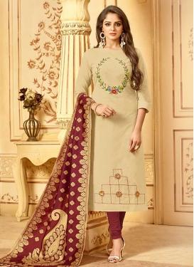 Cotton Churidar Salwar Kameez For Casual