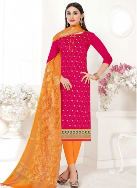 Cotton Churidar Salwar Kameez For Festival