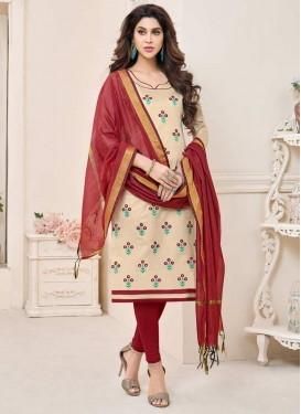 Cotton Churidar Salwar Suit For Casual