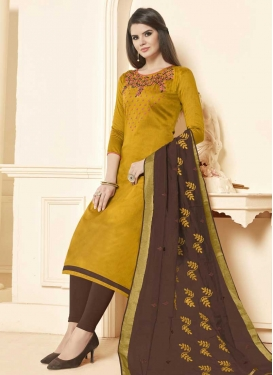Cotton Churidar Salwar Suit For Casual