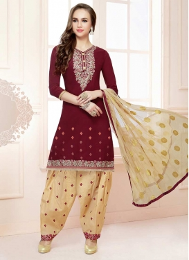 Cotton Designer Semi Patiala Salwar Suit