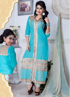 Cotton Designer Straight Salwar Kameez For Festival