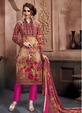 Cotton Digital Print Work Pant Style Salwar Suit