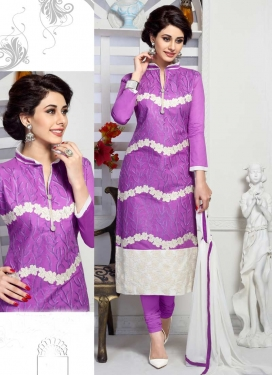Cotton Embroidered Work Trendy Churidar Salwar Kameez
