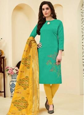 Cotton Embroidered Work Trendy Churidar Salwar Kameez