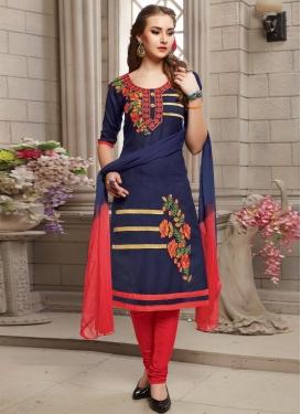 Cotton Embroidered Work Trendy Salwar Kameez