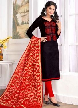 Cotton Embroidered Work Trendy Straight Salwar Kameez