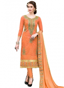 Cotton Embroidered Work Trendy Straight Salwar Suit