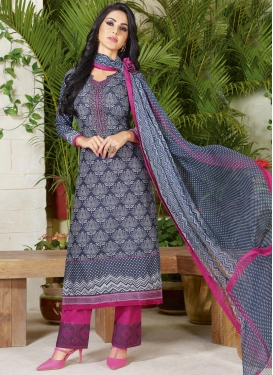 Cotton Lace Work Pant Style Pakistani Salwar Suit
