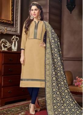 Cotton Lace Work Trendy Suit