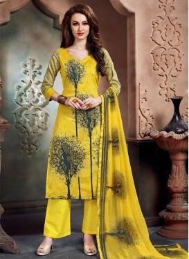 Cotton Palazzo Straight Salwar Suit