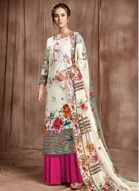 Cotton Palazzo Style Pakistani Salwar Kameez
