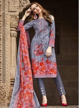 Cotton Pant Style Straight Salwar Kameez