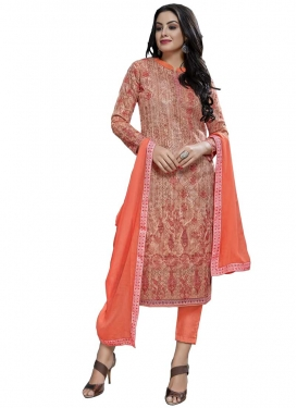 Cotton Pant Style Straight Salwar Kameez For Ceremonial