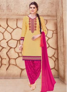 Cotton Patiala Salwar Suit For Ceremonial