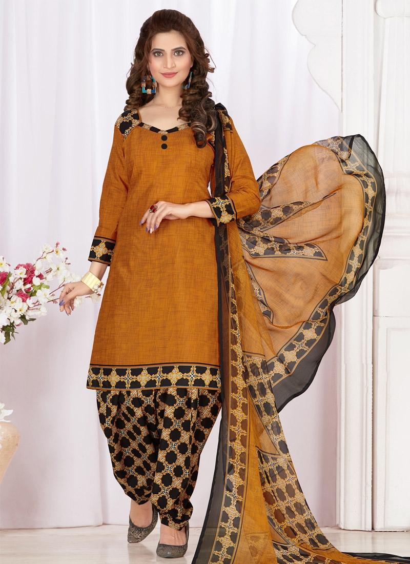d78fd4c693 Shop Cotton Print Work Designer Patiala Salwar Suit Online