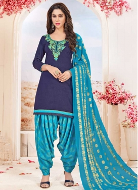 Cotton Punjabi Salwar Kameez For Festival