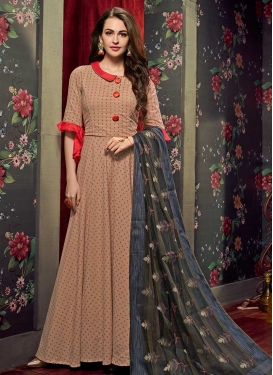 Cotton Readymade Classic Gown For Festival