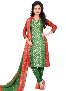 Cotton Satin Churidar Punjabi Salwar Suit