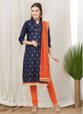 Cotton Satin Churidar Salwar Kameez