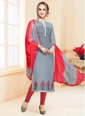 Cotton Satin Churidar Salwar Kameez For Ceremonial