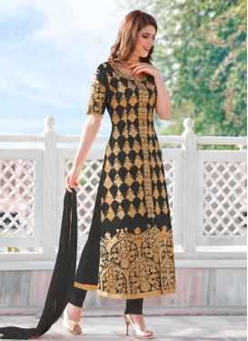 Cotton Satin Designer Salwar Kameez