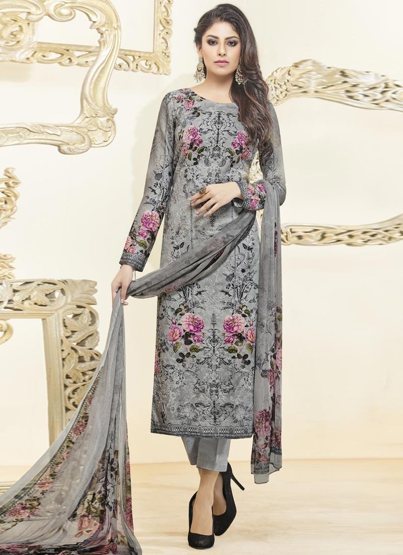 75e2d0b47e Buy Cotton Satin Digital Print Work Pant Style Pakistani Suit Online
