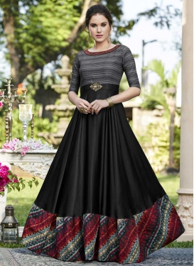 Cotton Satin Floor Length Designer Salwar Suit For Ceremonial