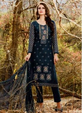 Cotton Satin Pant Style Classic Salwar Suit