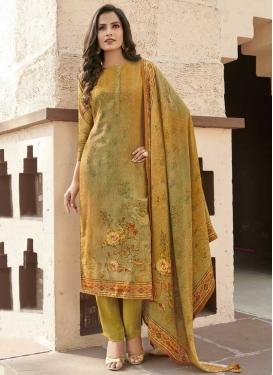 Cotton Satin Pant Style Pakistani Salwar Kameez