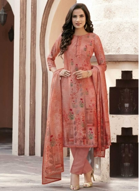 Cotton Satin Pant Style Pakistani Suit For Festival