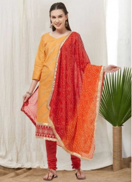 Cotton Satin Trendy Churidar Suit