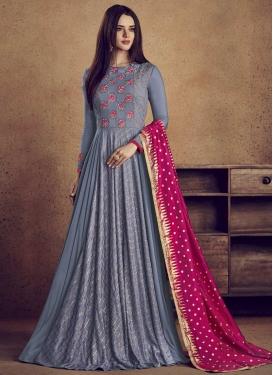 Cotton Silk Aari Work Readymade Designer Gown