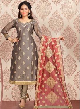 Cotton Silk Churidar Salwar Kameez