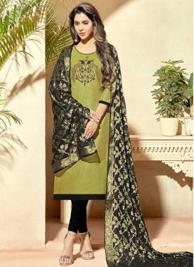 Cotton Silk Churidar Salwar Kameez For Ceremonial