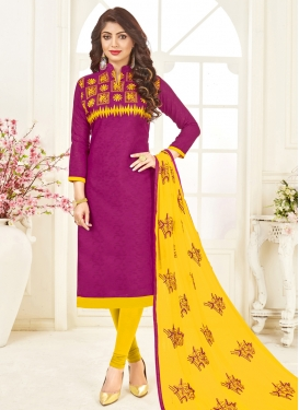Cotton Silk Churidar Salwar Suit