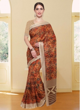 Cotton Silk Contemporary Saree For Casual