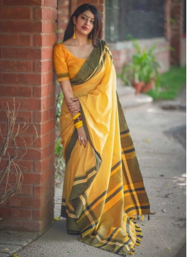 Cotton Silk Contemporary Saree For Festival