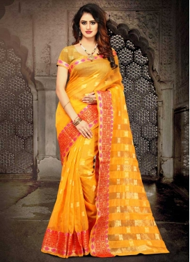Cotton Silk Contemporary Style Saree For Casual