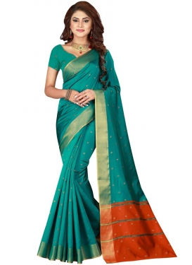 Cotton Silk Designer Contemporary Saree For Casual