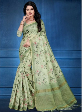 Cotton Silk Designer Contemporary Saree For Ceremonial