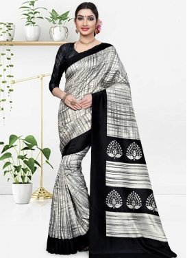 Cotton Silk Designer Contemporary Style Saree For Casual