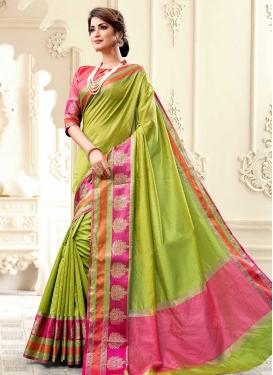 Cotton Silk Designer Contemporary Style Saree For Ceremonial
