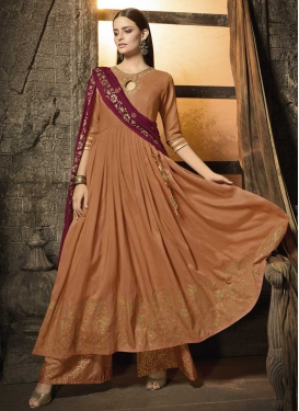 Cotton Silk Designer Palazzo Salwar Suit