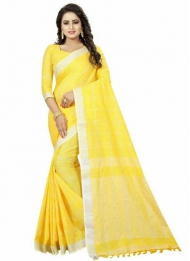 Cotton Silk Designer Traditional Saree For Casual