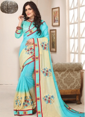 Cotton Silk Designer Traditional Saree For Festival