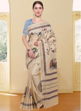 Cotton Silk Digital Print Work Classic Saree