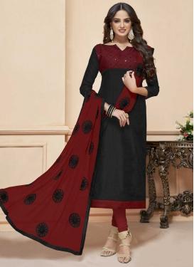 Cotton Silk Embroidered Work Trendy Churidar Salwar Kameez